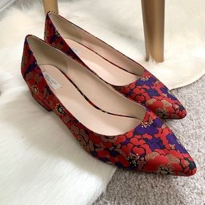 Cole Haan Floral Red and Purple Heel